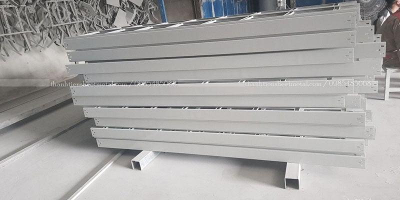Sản xuất thang cáp sơn tĩnh điện 500x100 theo yêu cầu