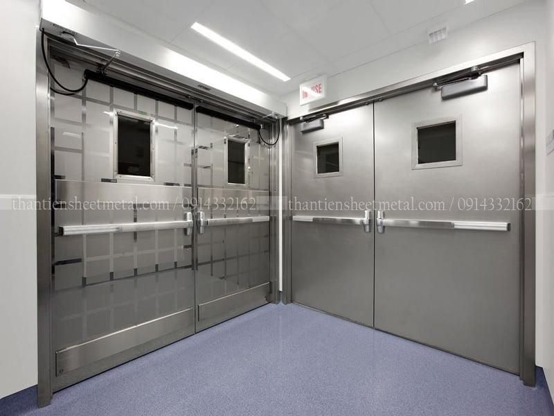 Cửa inox chống cháy / cửa chống cháy inox