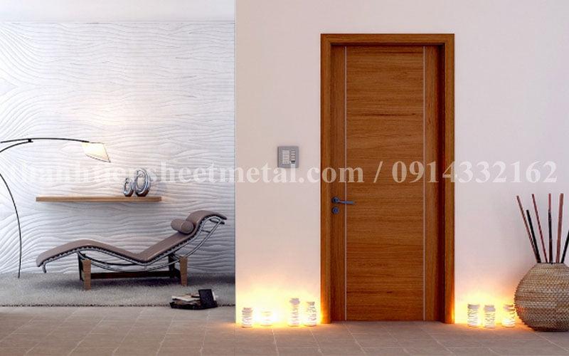Cửa thép vân gỗ chống cháy chất lượng tốt